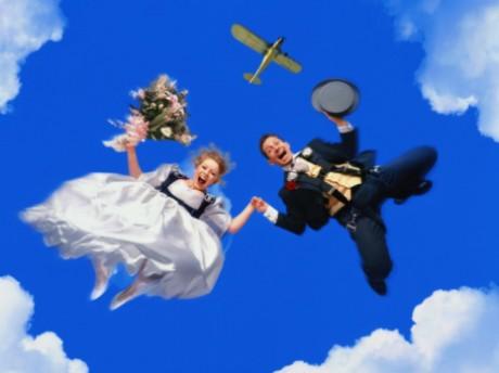 свадебный прыжок с парашютом