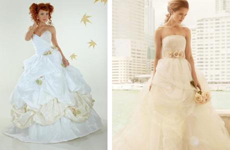 Свадебное платье для осеннего торжества