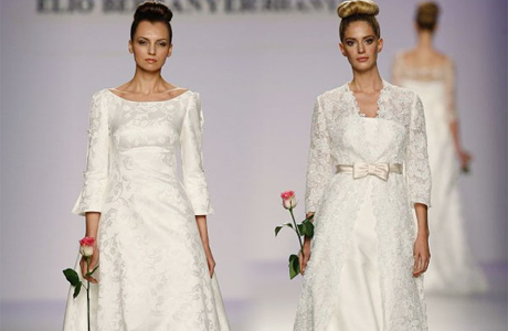 Зимнее платье невесты