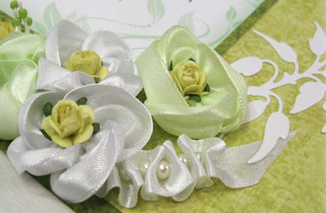 Свадебные пригласительные в зеленом