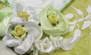 Свадебные пригласительные в зеленом цвете
