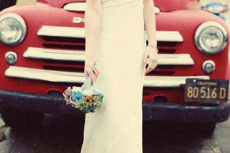 Букет невесты в стиле ретро
