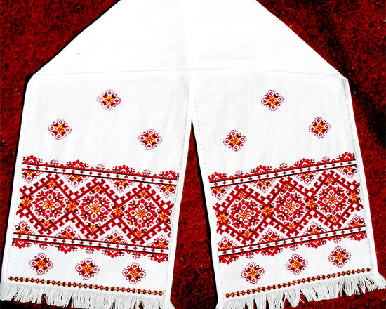 Вышивка на рушник схема вышивки 66