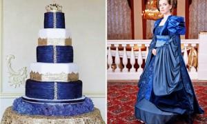 Свадебный торт и платье невесты – единство стиля
