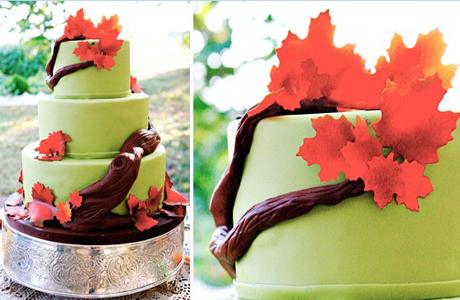 Свадебный торт для осенней свадьбы