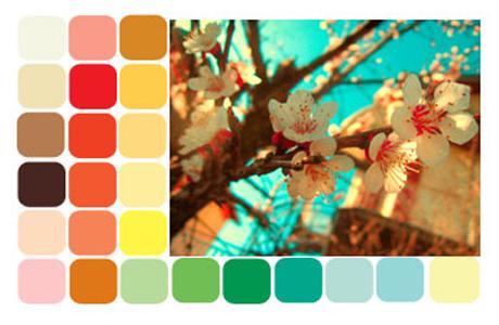 Цветовая палитра невесты - весна