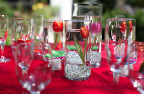 Тюльпаны в свадебном декоре