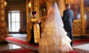 Венчание на Рождество в храме