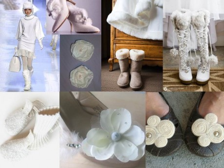 Зимние аксессуары невесты