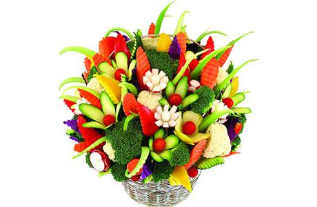 Украшай овощами и фруктами