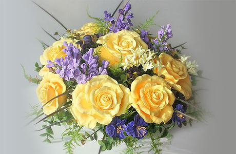 Свадебная флористика - круглый букет невесты