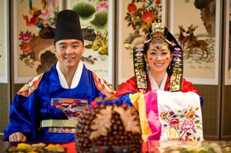 Корейская свадьба - молодожены