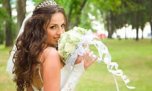 Невеста с нарощенными волосами