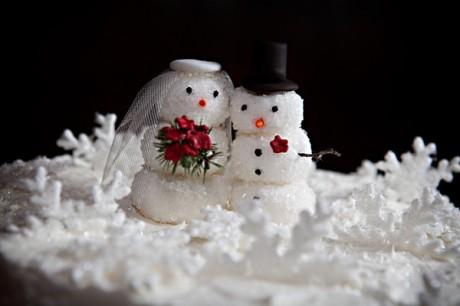 Оформление зимней свадьбы: снеговички