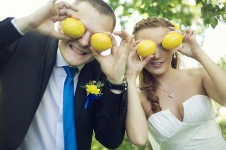 Свадебные блюда и украшения: цитрусовая свадьба