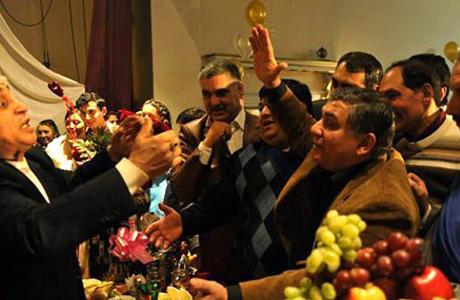 Пьяные гости на свадьбе