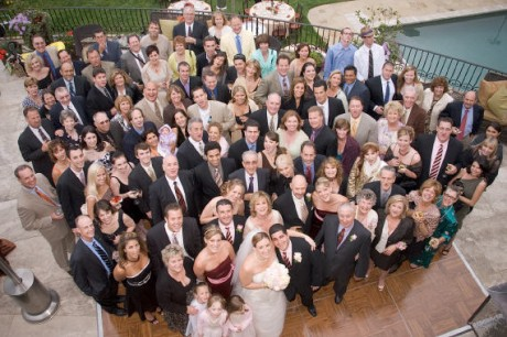 Родственники жениха на свадьбе