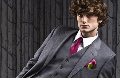 Новогодние костюмы для женихов: серый цвет