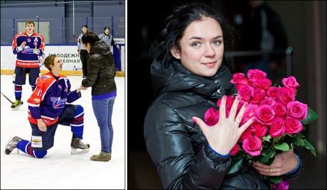 Стас Логинов сделал предложение во время хоккейного матча