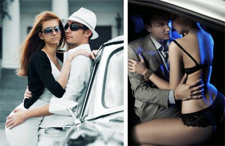 Секс на свадьбе в авто