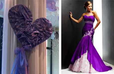Оформление зимней свадьбы: фиолетовый