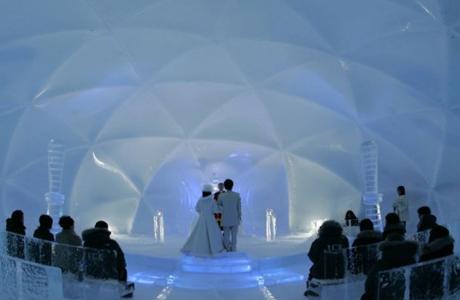 Оригинальная свадьба во льду