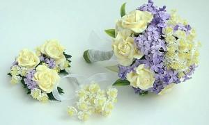 Розы и сирень на свадьбу