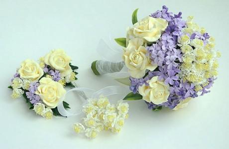 Свадебная флористика - розы и сирень на свадьбу