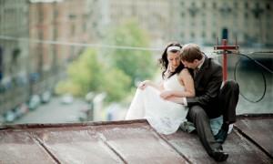 Свадебная фотосессия на крыше