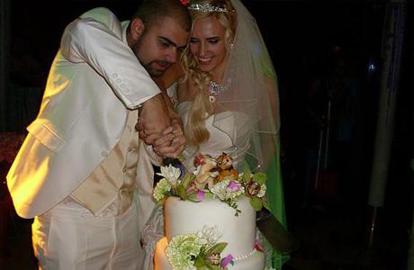 Свадебный торт на свадьбе Агибаловой и Гажиенко