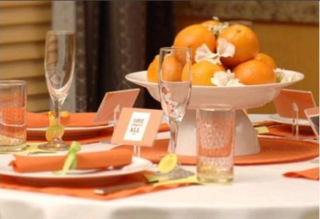 Цитрусовая свадьба: свадебные блюда