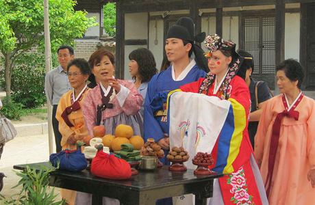 Торжество на корейской свадьбе