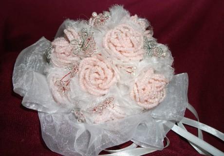 Свадебный букет из бисера приятные