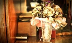 Засушенный свадебный букет