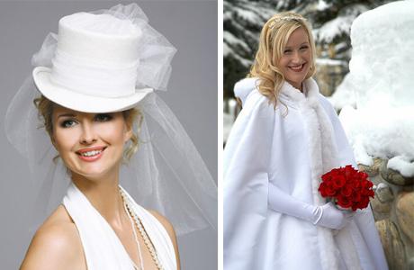 Головной убор для невесты: циллиндр или накидка с капюшоном