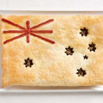 Интересная закуска-крекер для проголодавшихся гостей после свадебной прогулки