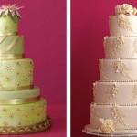 Свадебный торт с разноцветной глазурью - и больше украшений не требуется