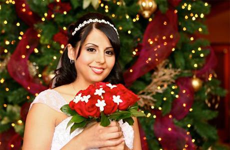 Цветы на свадьбе в Новый год