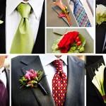 Бутоньерку для жениха можно выбрать в той же цветовой гамме, что и основное оформление свадебного торжества