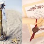 Такие приглашения - отличный вариант для тематической свадьбы