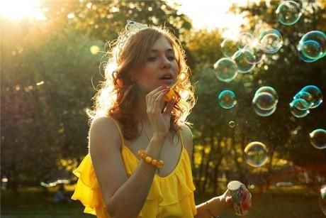 Мыльные пузыри на свадьбе - красота