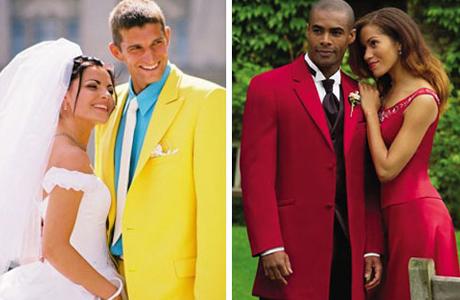 Цветной костюм для жениха