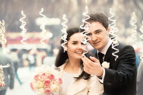 Украшение новогодней свадьбы