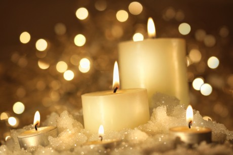 Свечи на свадьбе - украшение улицы