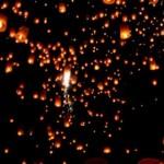 Год Дракона - красные китайские фонарики на новогодней свадьбе