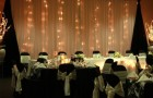 Черный цвет для оформления твоей новогодней свадьбы