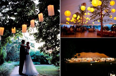 Свадебные фонарики на свадьбе