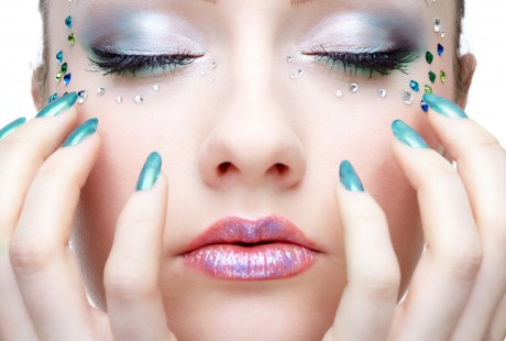 Серебристый макияж