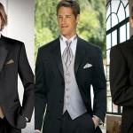 Черный костюм-смокинг или фрак - прекрасный вариант для классической церемонии бракосочетания