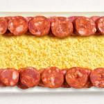 Не мучай себя вопросом, как оформить горячие блюда. Флаги стран из еды - все гениальное просто